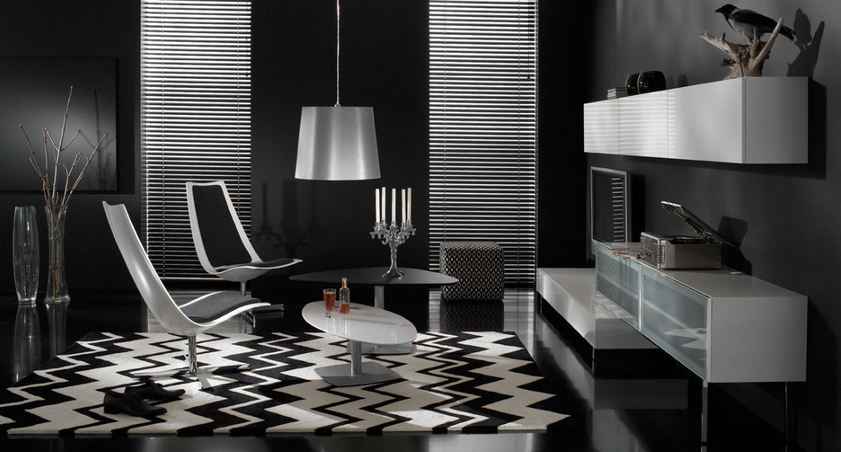 17 inspiring wonderful black and white contemporary for Monochrome interior design ideas
