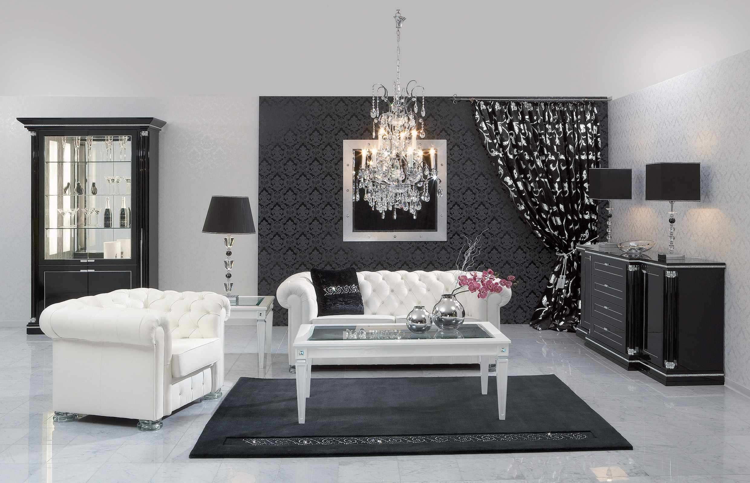 Black White And Red Themed Living Room | Centerfieldbar.com