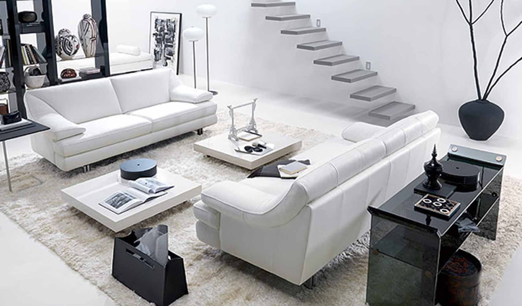 17 Inspiring Wonderful Black and White Contemporary Interior ...