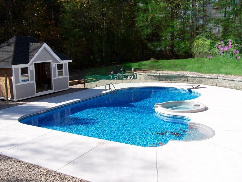 Backyard landscaping ideas swimming pool design for Types of inground swimming pools