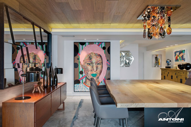 Clifton View Mansion By Antoni Associates Overlooking Cape Town – South Africa: Contemporary Display of Luxurious Interior Design  dinning zone art display