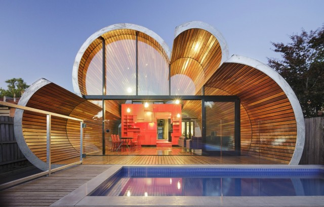 Cloud House in Melbourne by McBride Charles Ryan Homesthetics back view