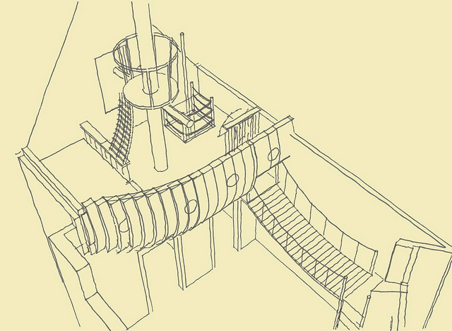 drawing of the Creative Environment- The BoatroomBedroom by Steve Kuhl custom made boatroom for modern mansion (3)