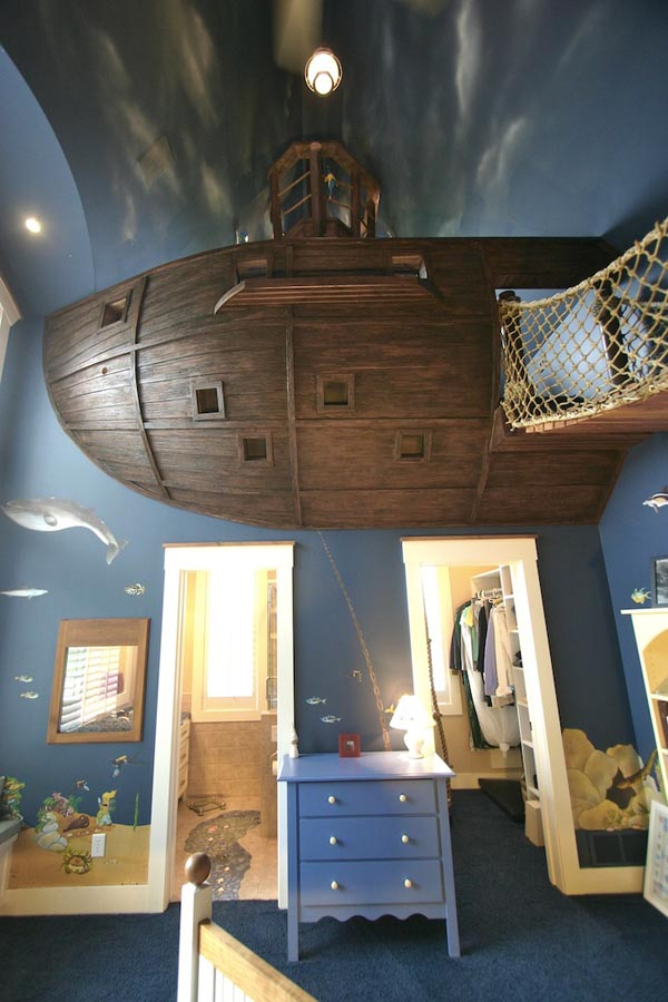 Creative Environment- The BoatroomBedroom by Steve Kuhl custom made boatroom for modern mansion (8)