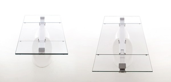 extended and closed Extendible Glass Table by Tonin CASA Homesthetics SHANGHAI  (1)