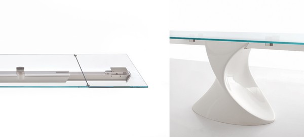 detail shots Extendible Glass Table by Tonin CASA Homesthetics SHANGHAI  (1)
