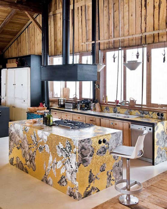 interesting kitchen design Farmhouse Transformed in an Amazing Chalet With Vintage Accents by Lionel Jadot modern mansion alternative (1)