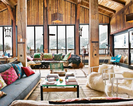 huge white living room design Farmhouse Transformed in an Amazing Chalet With Vintage Accents by Lionel Jadot modern mansion alternative (1)