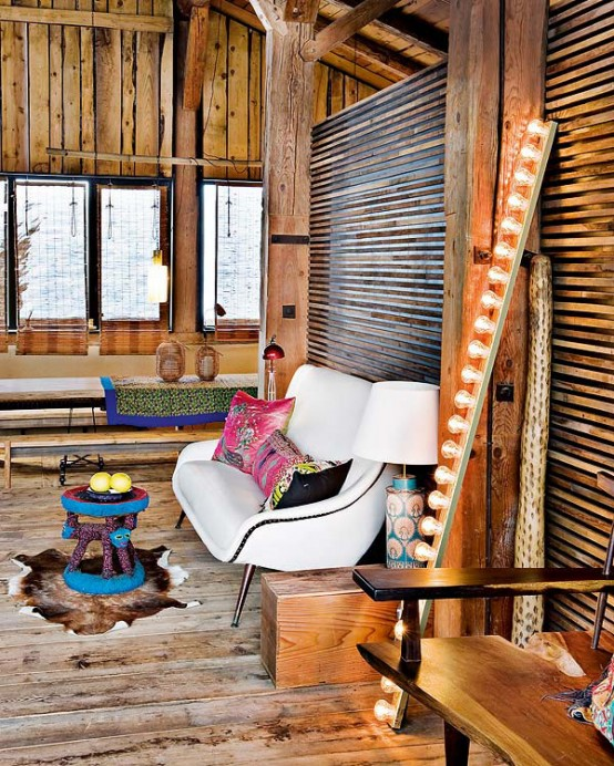 warmth in Farmhouse Transformed in an Amazing Chalet With Vintage Accents by Lionel Jadot modern mansion alternative (1)