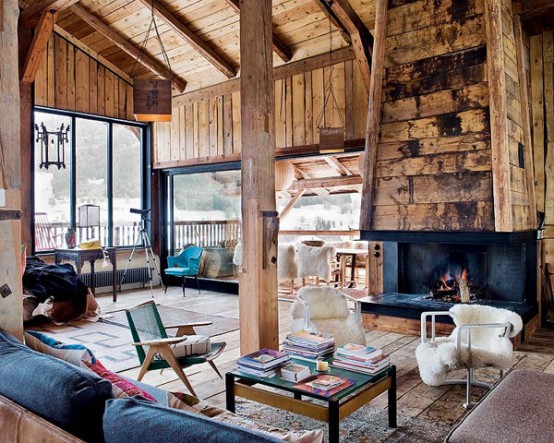 Farmhouse Transformed in an Amazing Chalet With Vintage Accents by Lionel Jadot modern mansion alternative (1)