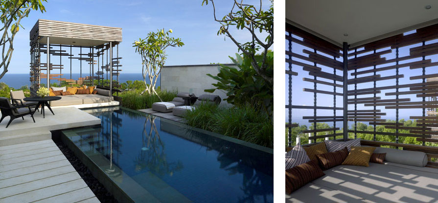 Luxurious Interior Design Hosted in Heaven- Alila Villas Uluwatu by WOHA Architects with infinity pool luxury assets