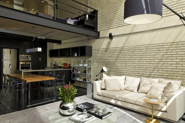 Modern Bachelor Pad Ideas high ceiling