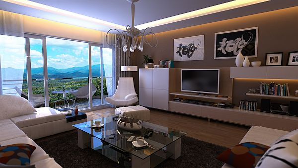 Modern Bachelor Pad Ideas wide view