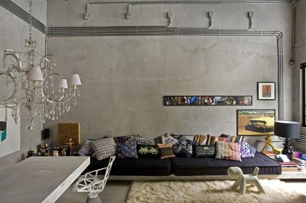 Modern Bachelor Pad Ideas grey room
