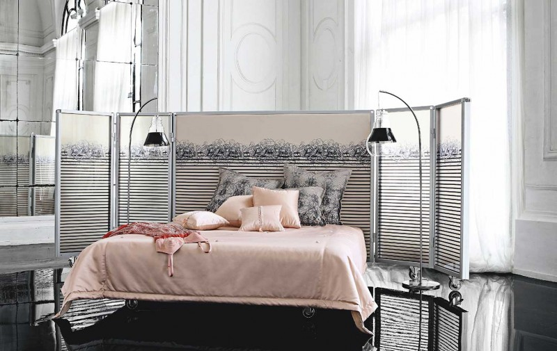 industrial bedroom design with exposed concrete and an amazing design