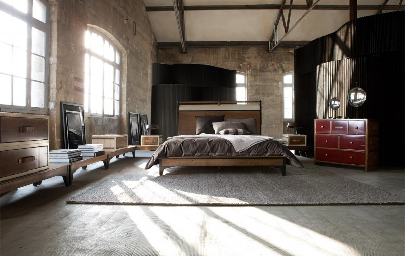 ... industrial bedroom design with exposed concrete and an amazing design ... & Modern Inspiring Bedroom Interior Design by Roche Bobois ...