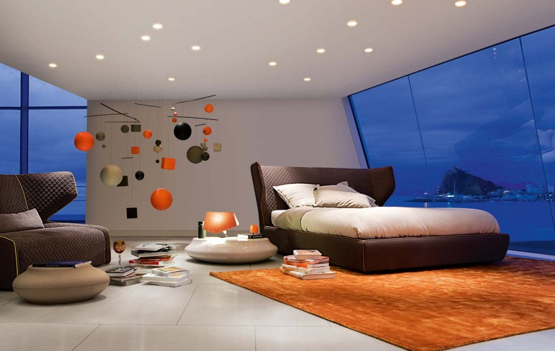 colorful red bedroom design Modern Inspiring Bedroom Interior Design by Roche Bobois bedroom interior design for modern masions (19) with a view