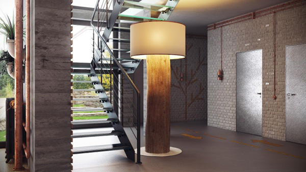 staircase design Modern Loft in Minsk Featuring Rusty Pipes and Vintage Apparel by Uglyanitsa Alexander homesthetics (4)
