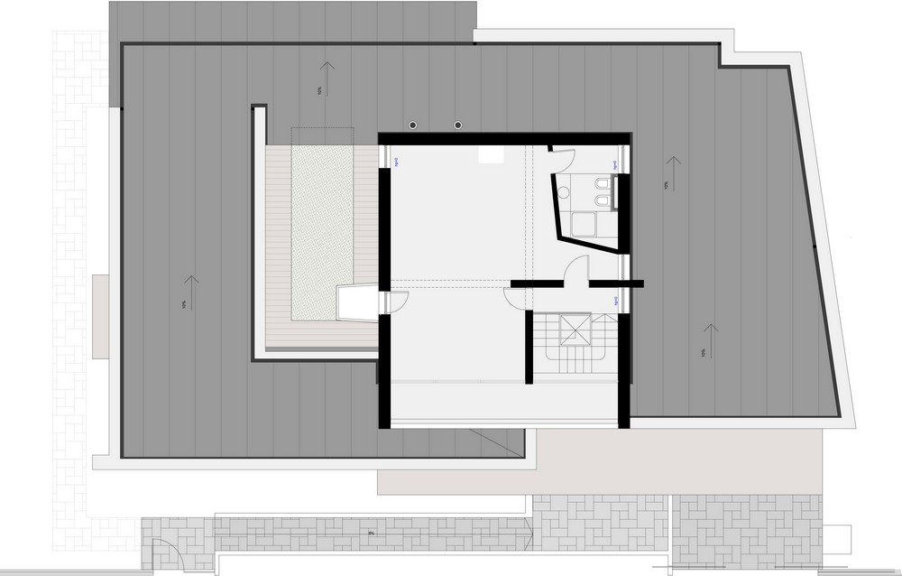 floorplan blueprint section plane in House-in-House