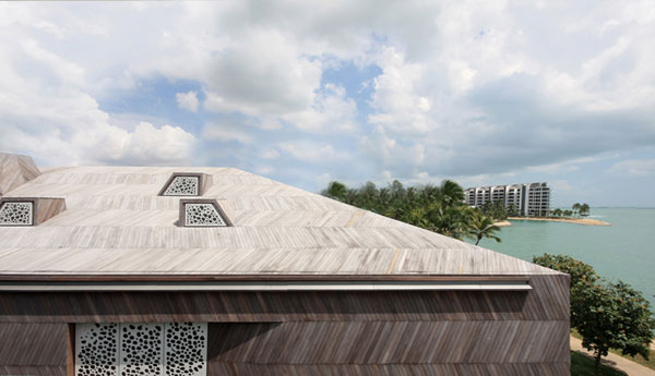roof of the Modern Sustainable Eccentric Stereoscopic Weekend Retreat Finished in a Variety of Textures (2)