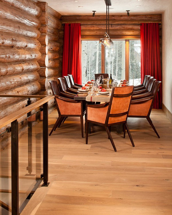 dinning area Moody-Cabin-mouintain retreat in luxurious chalet modern mansion alternativejpg (14)