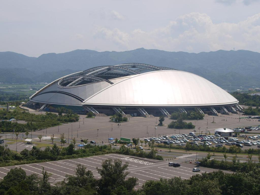 Oita Stadium, Japan-The Big Eye Homesthetics aerial view