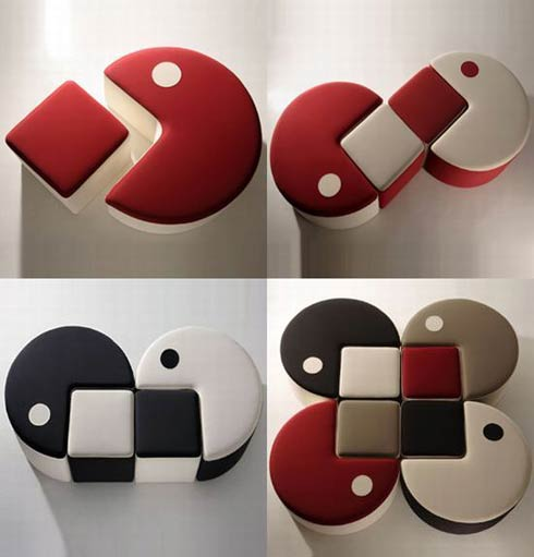 Pac-Man Inspired Furniture by Qayot the Poufman (2)