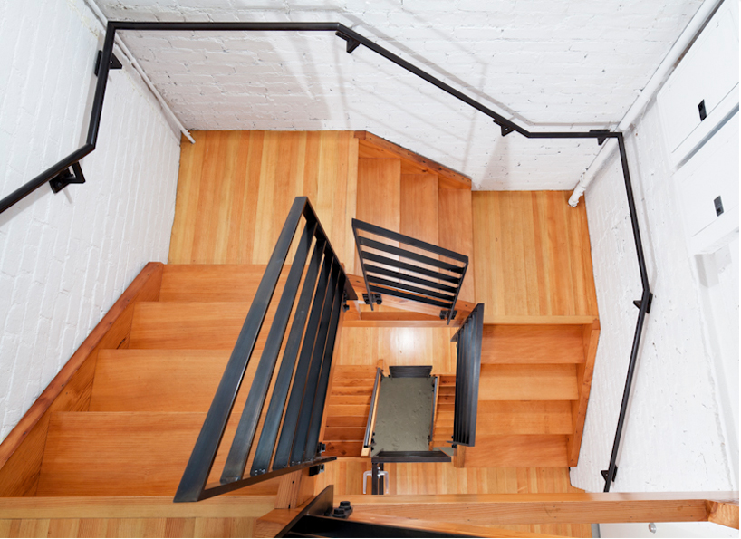 Roy Lichtenstein Residence and Studio Design by Caliper Studio Homesthetic wooden stairs