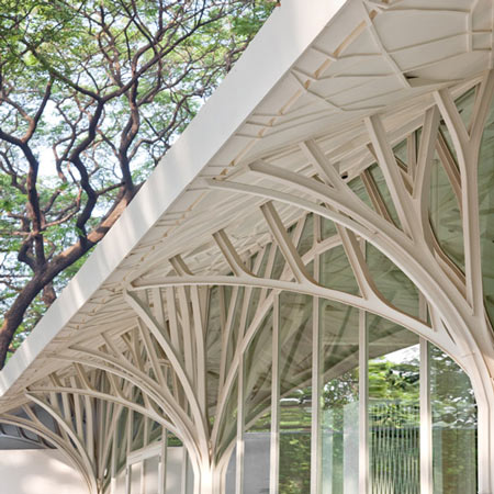 The Tote Hall by Serie Architects Chriss Lee & Kapil Gupta/The Expression of a Contemporary Design forest like form