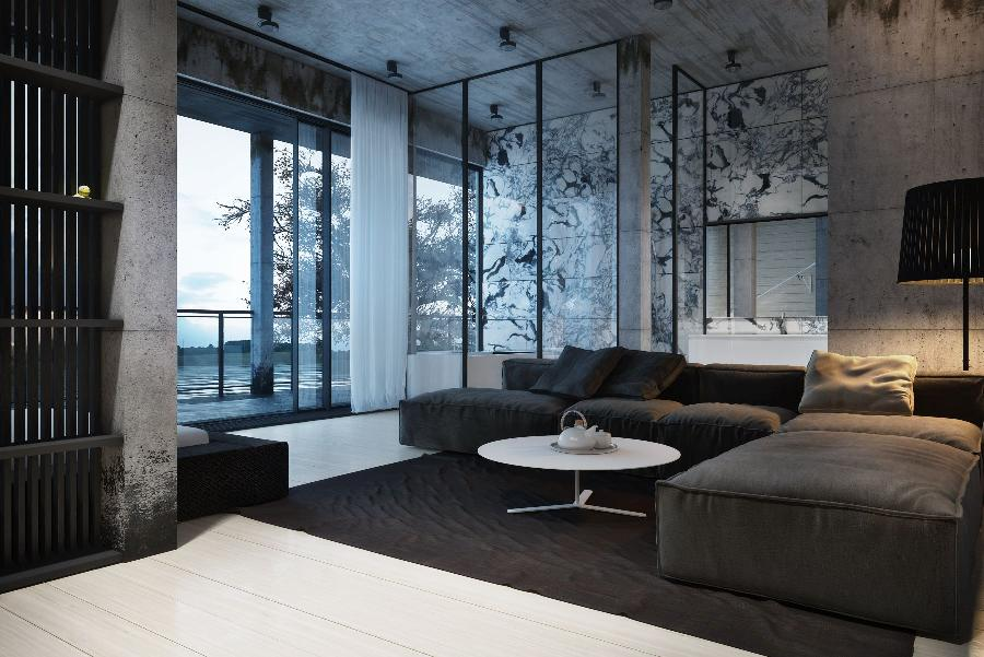Stunning black and white interior design by igor sirotov for Exquisite interior designs
