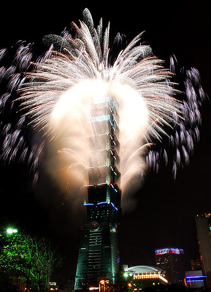 Taipei 101 Tower in Taiwan by C.Y. Lee & Partners Homesthetics fireworks