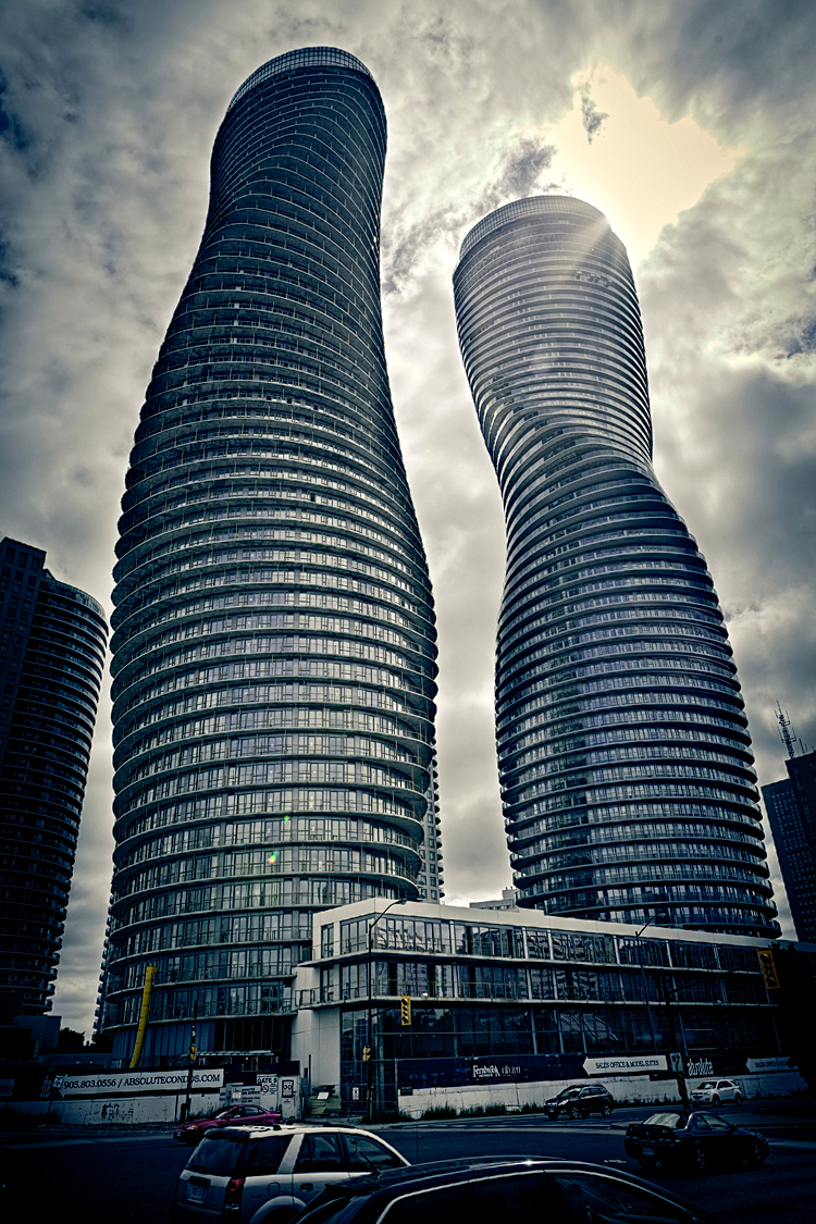 """The Absolute Towers in Canada by MAD Architects  """"Marylin Monroe Towers"""" futuristic design"""