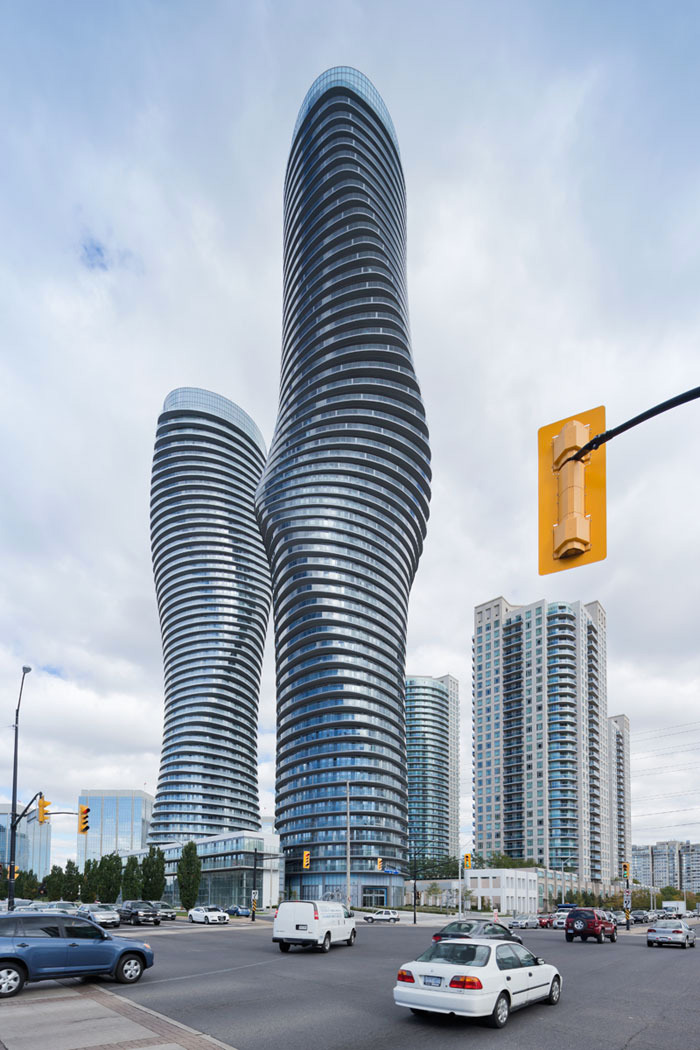 """The Absolute Towers in Canada by MAD Architects  """"Marylin Monroe Towers"""" contemporary skyscraper"""