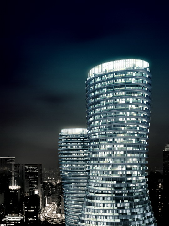 """The Absolute Towers in Canada by MAD Architects  """"Marylin Monroe Towers"""" twisted towers"""