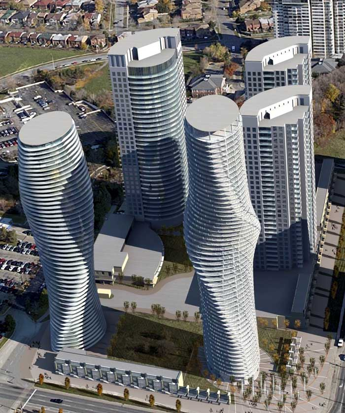 """The Absolute Towers in Canada by MAD Architects  """"Marylin Monroe Towers"""" apartment complex"""