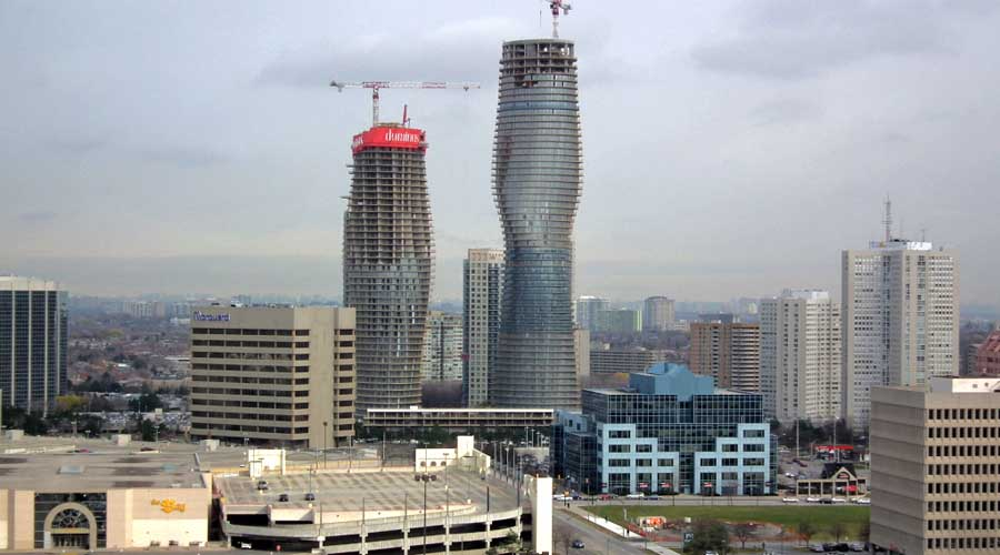 """The Absolute Towers in Canada by MAD Architects  """"Marylin Monroe Towers"""" construction process"""