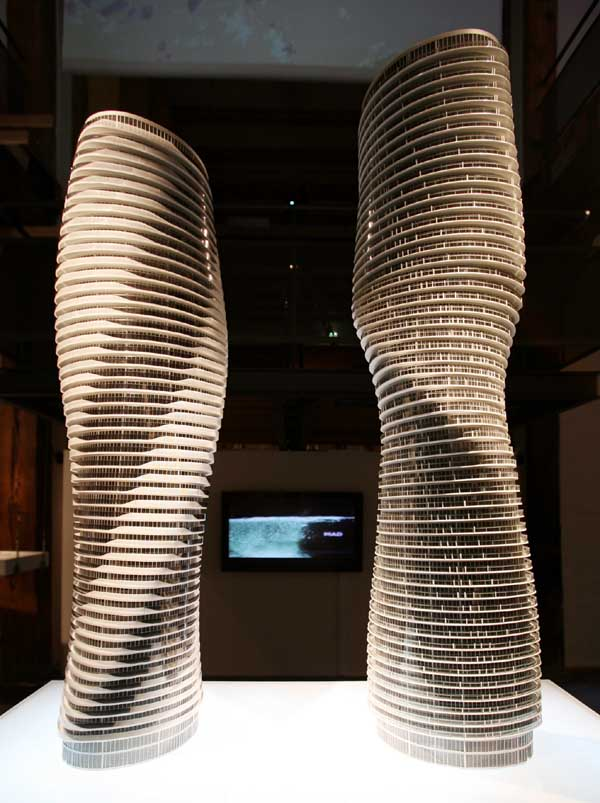 "The Absolute Towers in Canada by MAD Architects  ""Marylin Monroe Towers"" model"