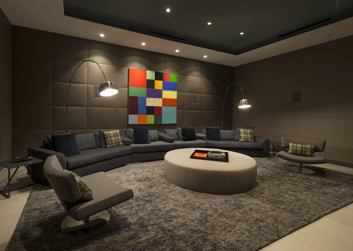 The Expression of a Modern Mansion by Hagy Belzberg Homesthetics home cinema