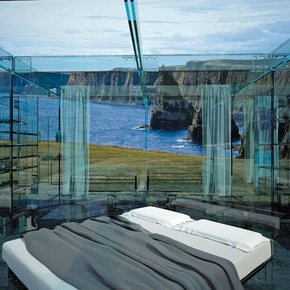 The Santambrogio Milano Glass Houses Living Without Boundaries modern bedroom