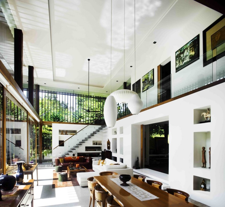 The Sun House By Guz Architects A Hevean Of Green In Singapore Displayed In A Modern Mansion on modern contemporary house plans 3d