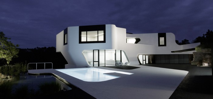 Unique Mansion | Dupli Casa by J. Mayer H. Architects night view dream mansion