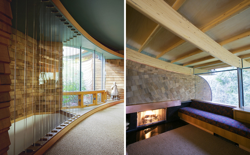 Wilkinson Residence in Oregon by Robert Oshatz luxurious modern mansion into the forest (16)