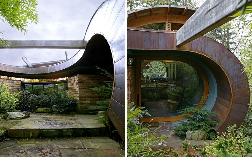 detail shots of the Wilkinson Residence in Oregon by Robert Oshatz luxurious modern mansion into the forest (1)