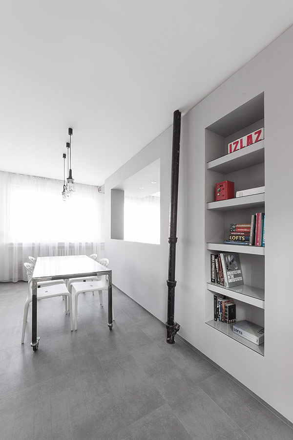 small dinning area detail apartment-minimalist-Andreja-Bujevac-21 black and white  (12)