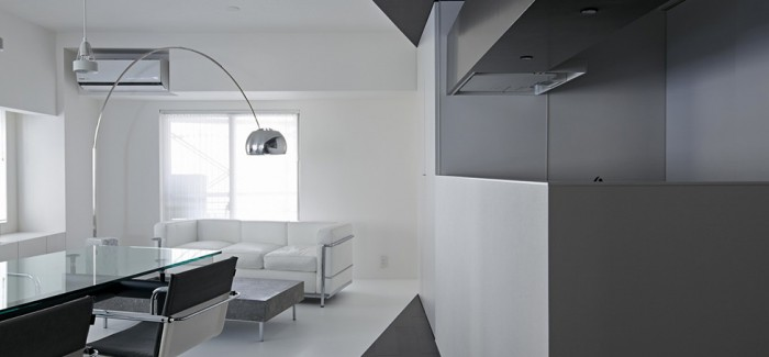 black and white apartment design in tokyo contemporary interior design minimalsit space clean lines