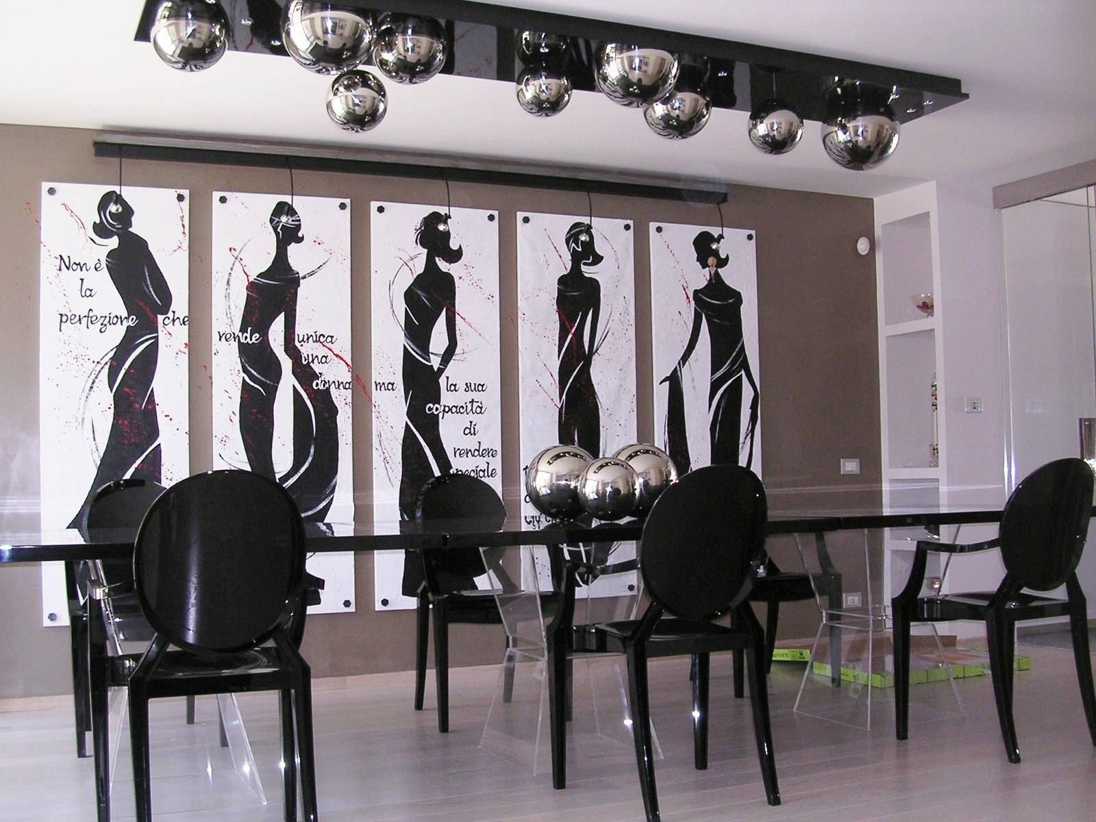 black and white art deco space