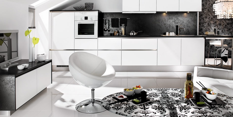 elegant art deco furniture in black and white contemporary interior space dream home