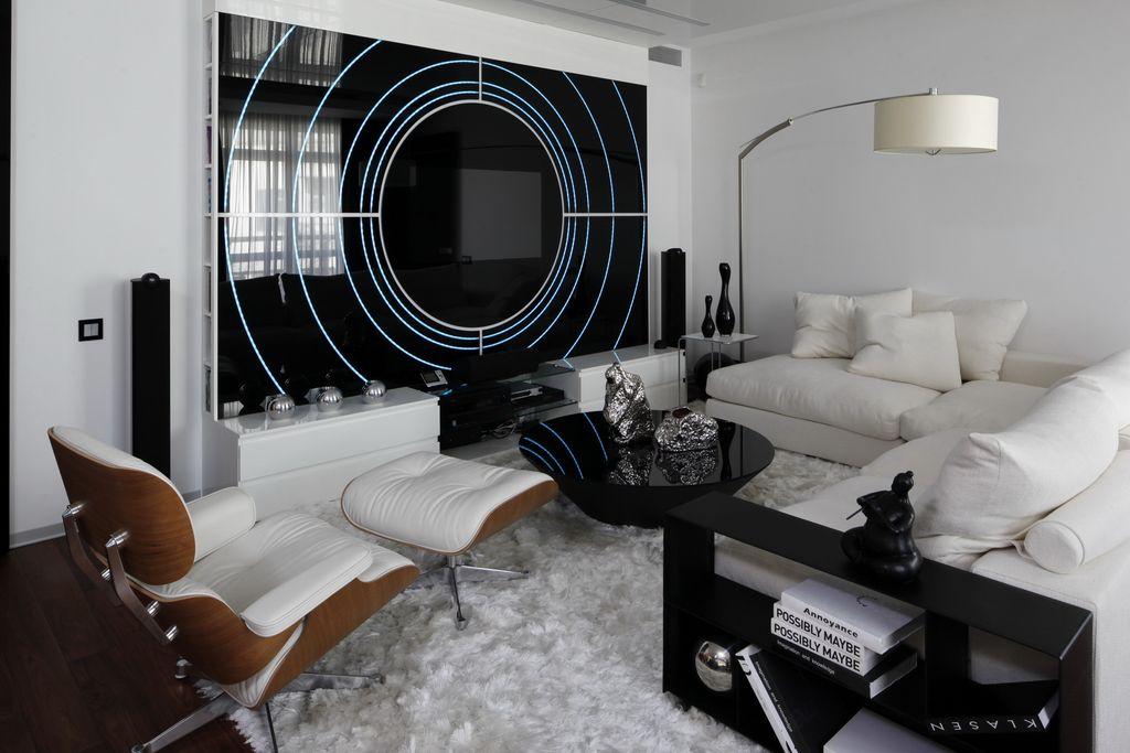 Black and white contemporary interior design ideas for your dream home homesthetics - Wohnzimmergestaltung modern ...