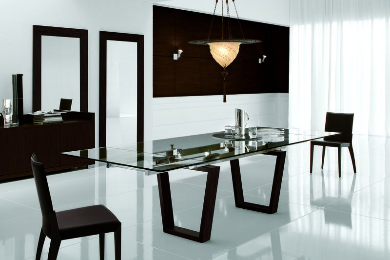 art deco space with elegant touches of white and black