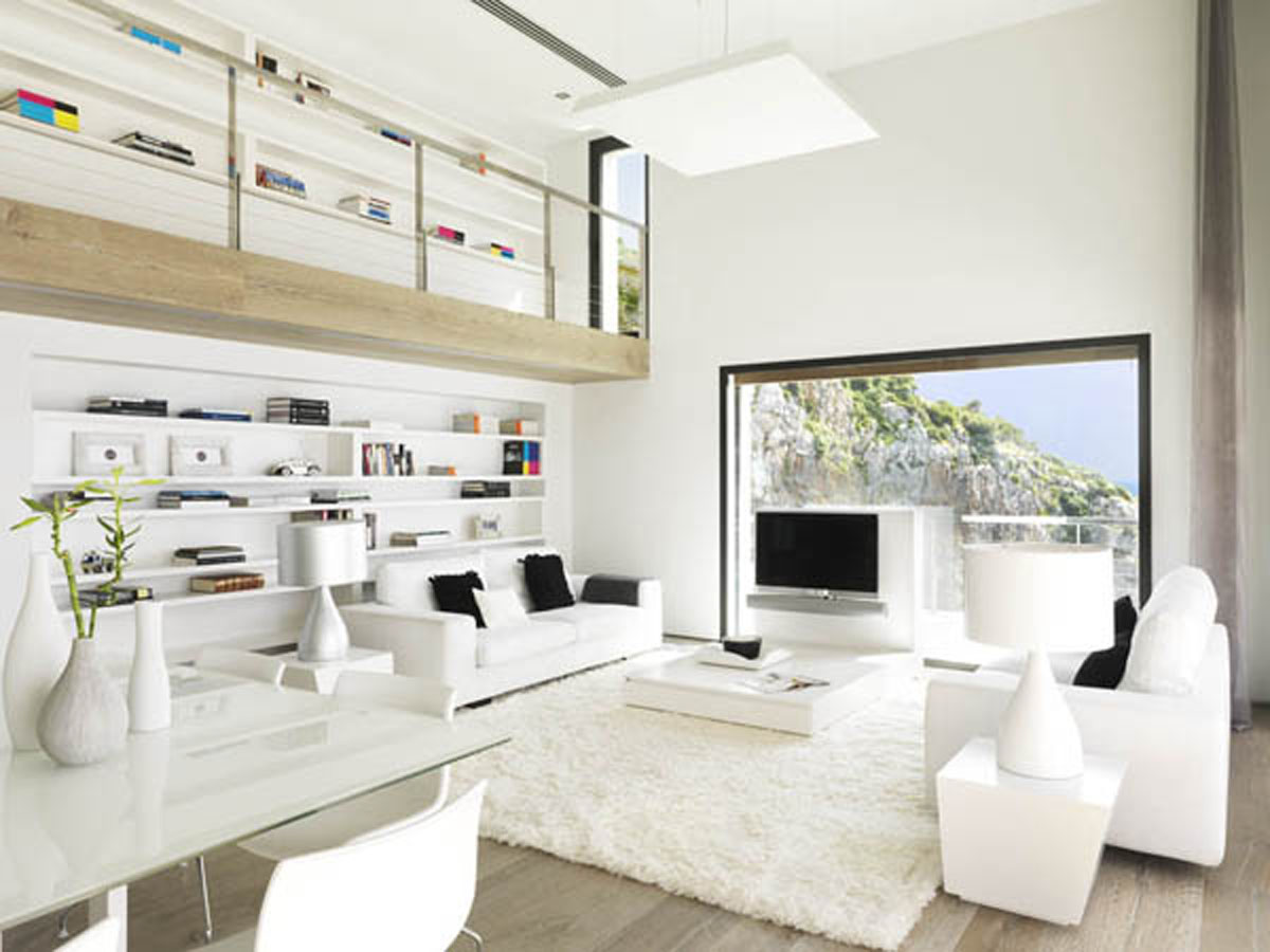 simple clean open space designed in white that enlargens the perspective